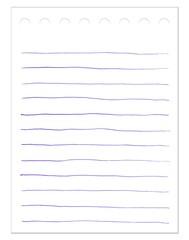 Notizzettel mit Kugelschreiber Linien