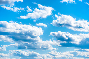 Clouds on blue sky as nature background