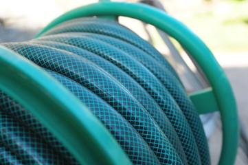 Zwinięty wąż ogrodowy