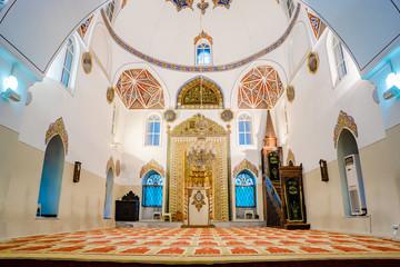 Interior View of Ghazi Orhan Mosque in Bursa, Turkey