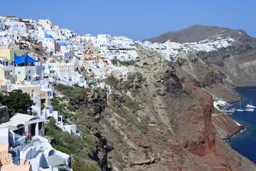 Oia, ein Ort am Rande des Vulkankraters