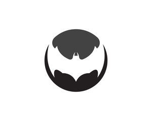 Bat vector icon logo template