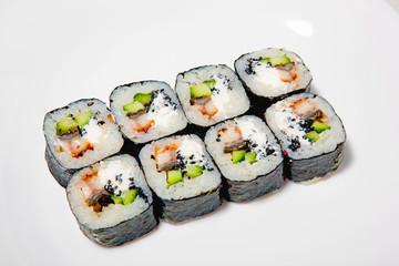 sushi, rolls, for the restaurant menu