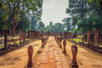 Banteay Srey - unique temple of pink sandstone.
