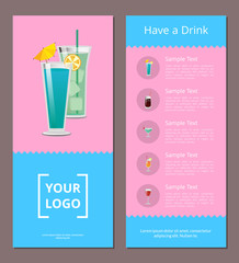Have Drink Poster with Place for Logo, Mojito Mint