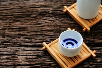 japanese sake cup oriental drink style on the table