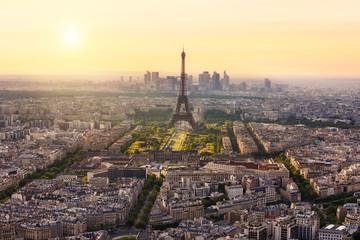 Paris skyline with Eiffel Tower, France