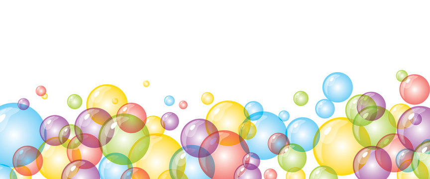 background with bright colored bubbles