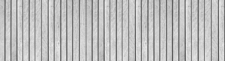 Panorama of White wood planks background