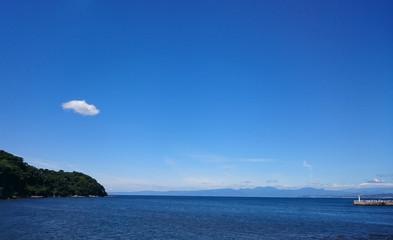 日本 神奈川 江ノ島の海と富士山 Japan enoshima sea and Mt.Fuji
