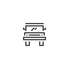 Car outline icon. linear style sign for mobile concept and web design. Off road truck simple line vector icon. Symbol, logo illustration. Pixel perfect vector graphics