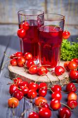 fresh cherries juice