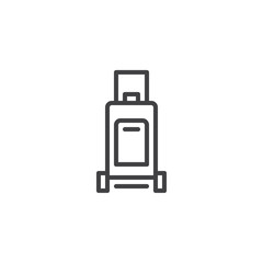 Luggage outline icon. linear style sign for mobile concept and web design. Travel suitcase simple line vector icon. Baggage symbol, logo illustration. Pixel perfect vector graphics