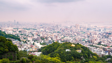 Kobe cityscape : View point from Mt.Rokko