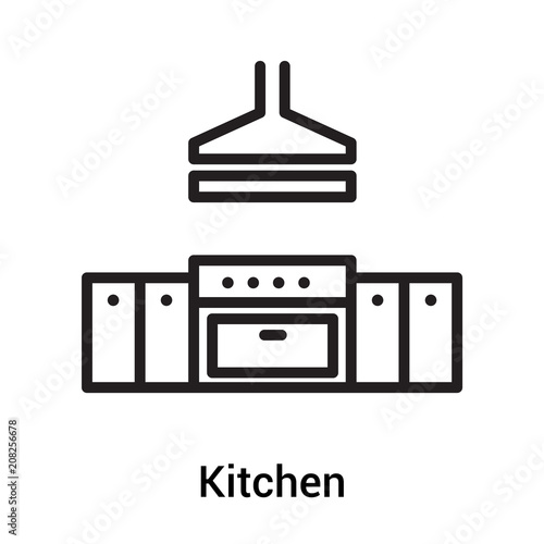 Kitchen Icon Vector Sign And Symbol Isolated On White