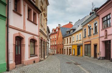Die historischen Straßen von Loket am Fluss Cheb (Eger), Tschechien