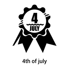 4th of july icon vector sign and symbol isolated on white background, 4th of july logo concept
