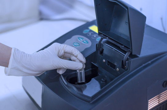 Determination of bacterial growth by the optical density using spectrophotometer