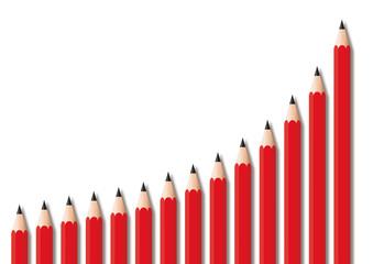 croissance - graphique - schéma - crayon - réussite - succès - entreprise - progression - présentation