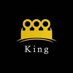 King Logo Icon Vector Template Design Illustration