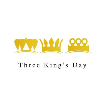 Three King's Day Logo Icon Vector Template Design Illustration