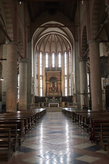 Treviso, Italy - May 29, 2018: View San Nicolo Temple interior.
