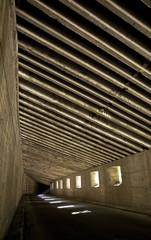 Dark road tunnel, underground road.