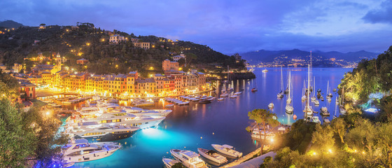 Panorama of beautiful Portofino - Italy