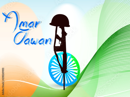 nice and beautiful abstract or poster for Kargil Vijay Diwas