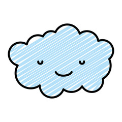 doodle kawaii cute and happy cloud fluffy weather