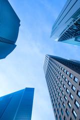 Skyscrapers at Shiodome Area, Shimbashi, Tokyo, Kanto Region, Honshu, Japan