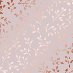 Rose gold. Elegant decorative floral pattern