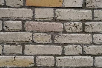 mur de briques  détail