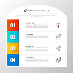 Infographic design template. Business concept with 4 steps