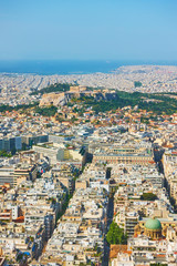 View of Athens city