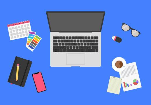 Scene Creator with Desktop Illustrations