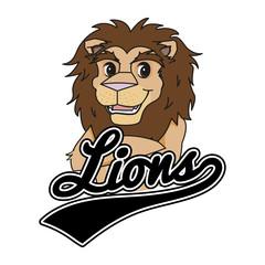 Vector Mascot Logo of a Lion