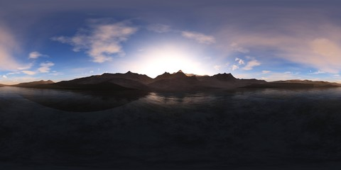 HDRI, equidistant  projection, Spherical panorama., Environment map