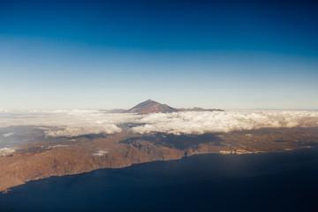 Tenerife island and Mount Teide volcano, aerial view