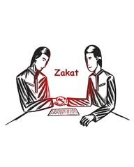 Zakat illustration, ramadan,charity, donate