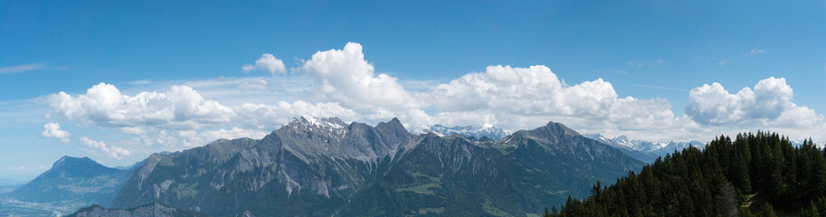 gorgeous mountain landscape with a fantastic view of the Swiss Alps