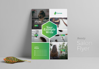 Business Flyer Layout with Green Gradient Accents