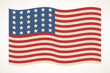 American flag patriotic illustration