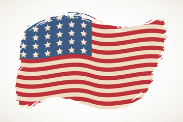 American flag patriotic illustration