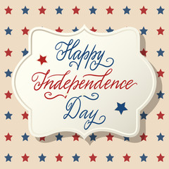 American Independence Day patriotic greeting card