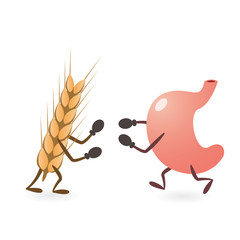 Stomach and Gluten Source Grain Fighting