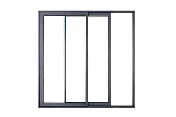 black window frame