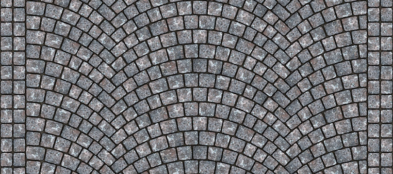 Road curved cobblestone texture 006