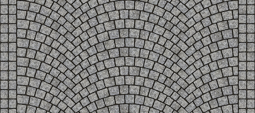 Road curved cobblestone texture 012