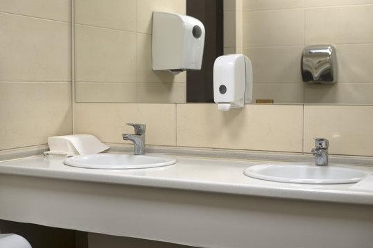 sink in a public toilet